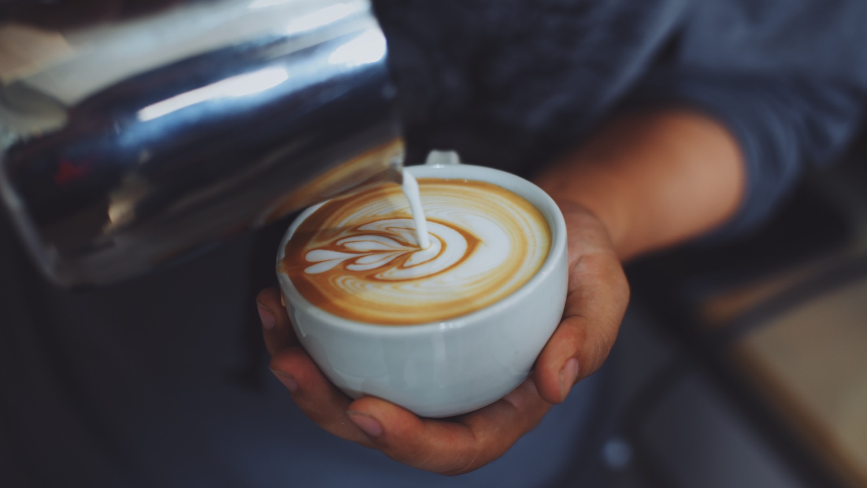MWT coffee in coffee shop vintage color